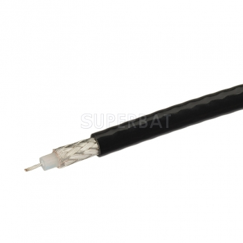 Coaxial Cable 75Ω BLACK RG179 Single Copper Braid Shielded Flexible RF Coax Cable /1Meter