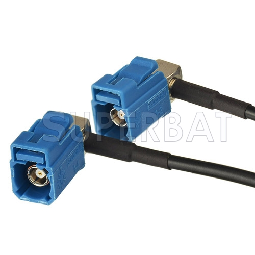 GPS antenna Extension cable Fakra C male plug to Y type 2x