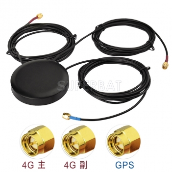 Low Profile GPS 4G LTE MIMO Screw Mount Omni-directional Antenna for Vehicle Truck RV Motorhome GPS Navigation 4G LTE Router Cell Phone Booster System