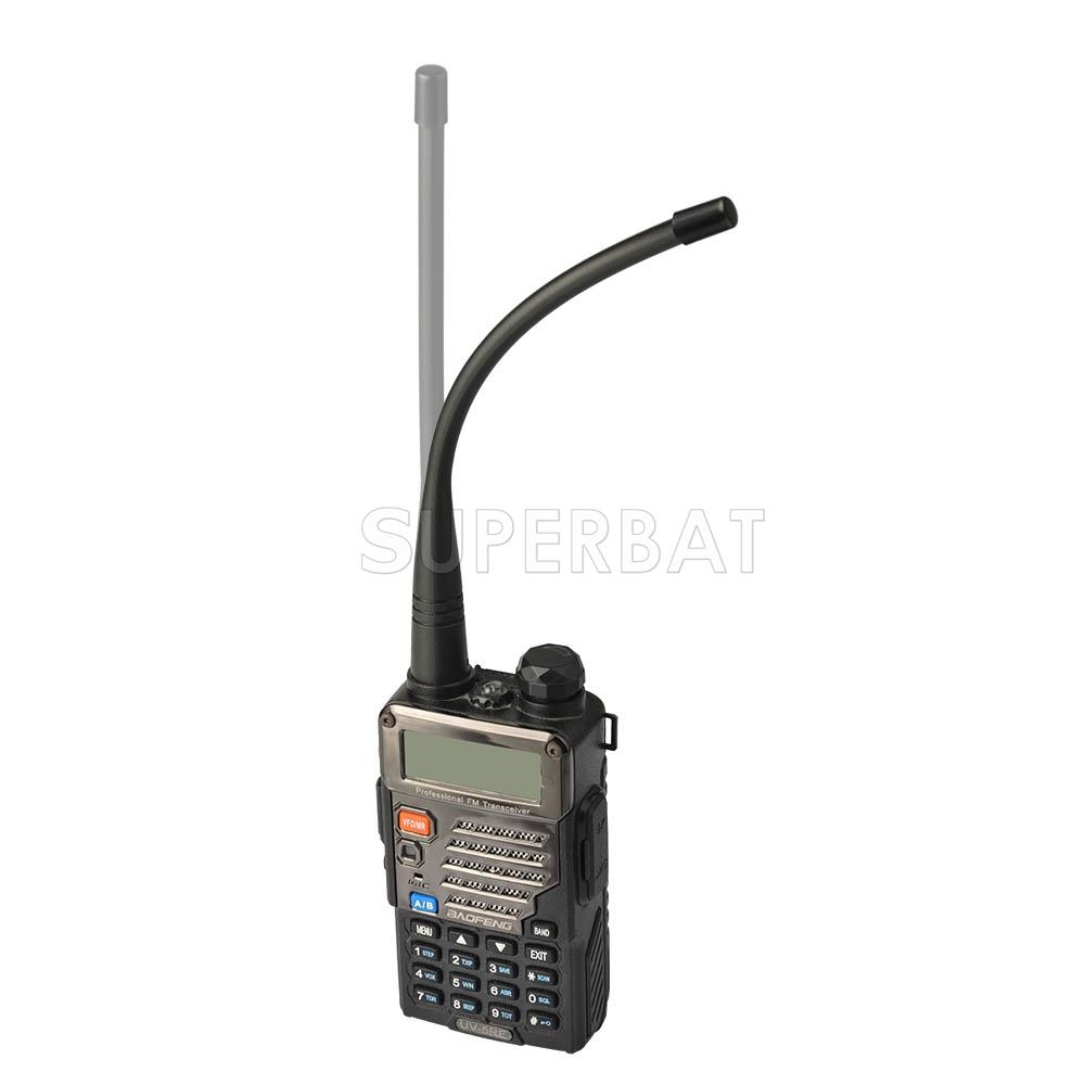 Superbat UHF 400-470Mhz Ham Radio SMA Female Soft Rubber