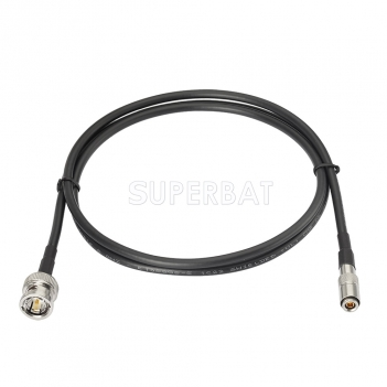 Superbat 1M DIN 1.0/2.3 to Male BNC Crimp Solder  75 Ohm Mini RG59 Belden(1855A) HD 3G 6G SDI Coaxial Cable for Video Camera and Moniter