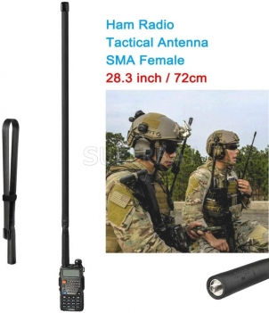 Dual Band VHF UHF 72cm Foldable CS Tactical SMA Female Ham Radio Antenna for Kenwood Baofeng CB Ham Radio Two Way Radio Walkie Talkie